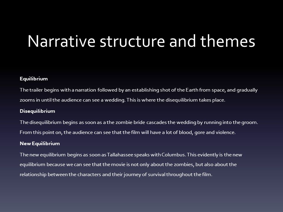 Narrative structure and themes
