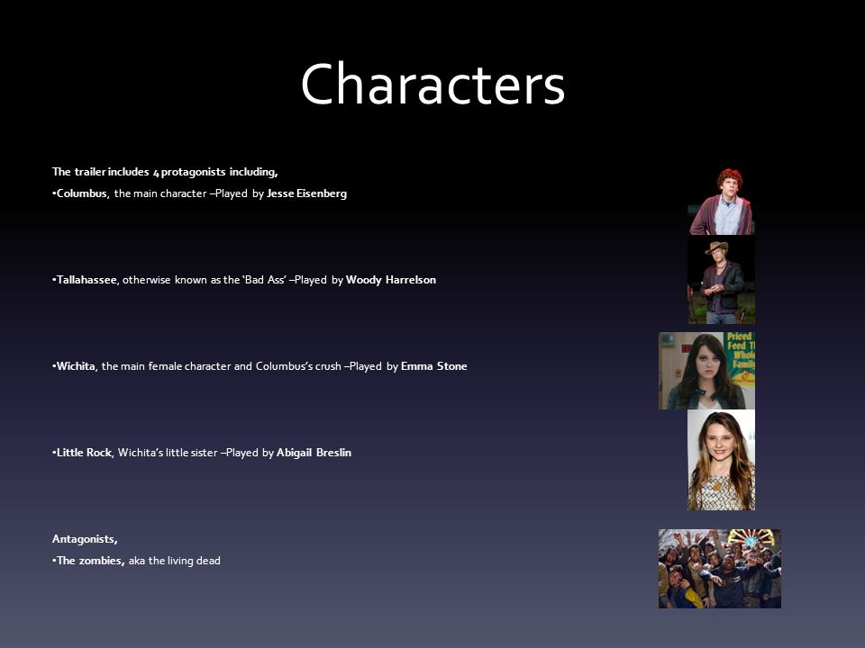 Characters The trailer includes 4 protagonists including,