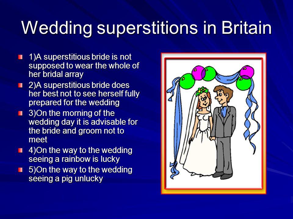 Wedding superstitions in Britain