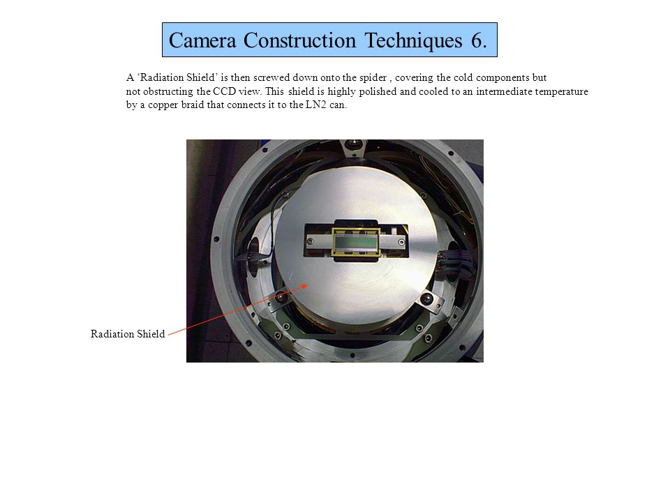 Camera Construction Techniques 6.