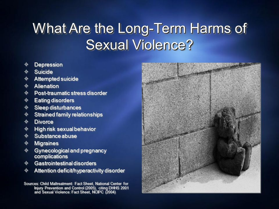 What Are the Long-Term Harms of Sexual Violence
