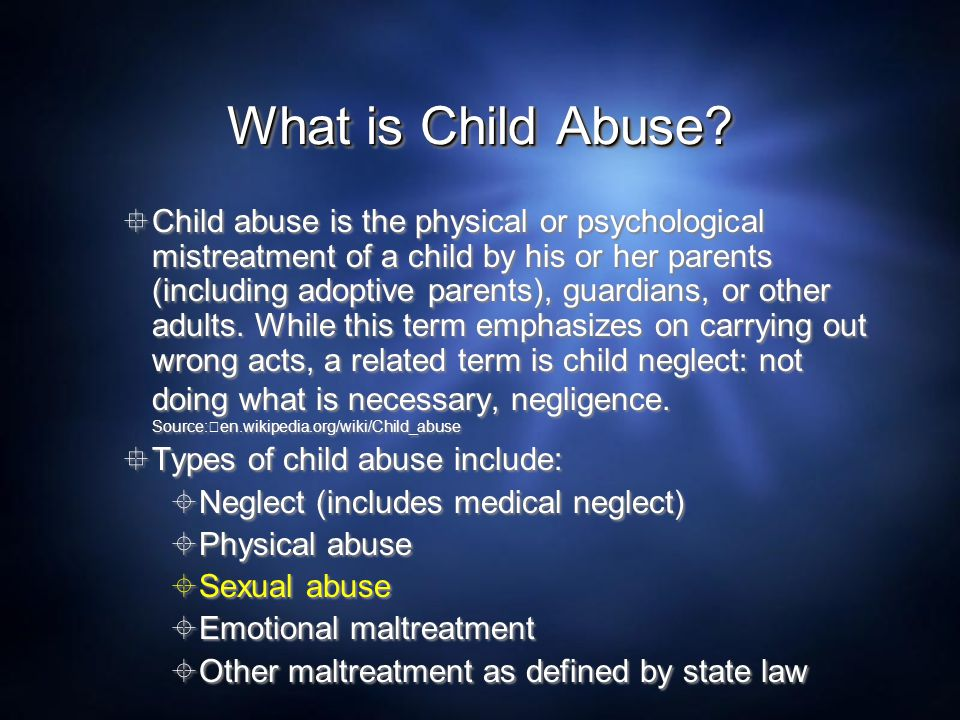 What is Child Abuse