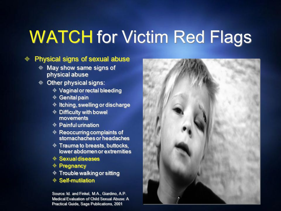 WATCH for Victim Red Flags
