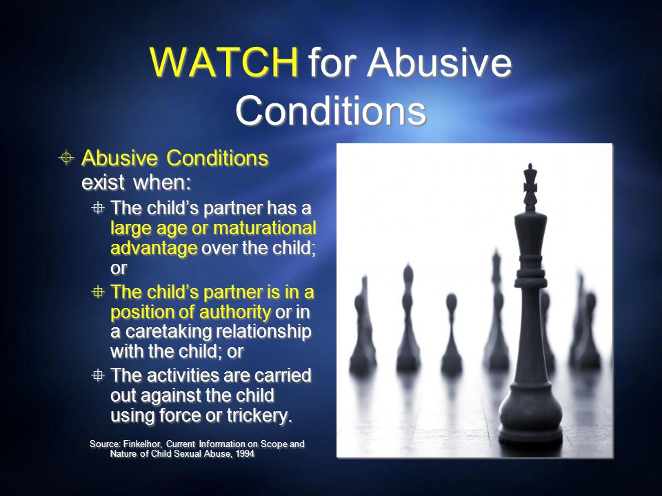 WATCH for Abusive Conditions