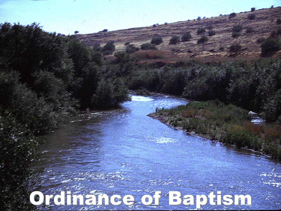 Ordinance of Baptism