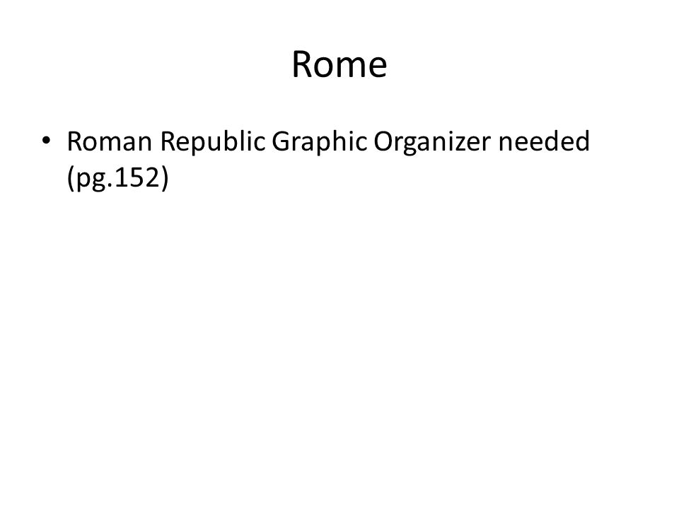 Rome Roman Republic Graphic Organizer needed (pg.152)