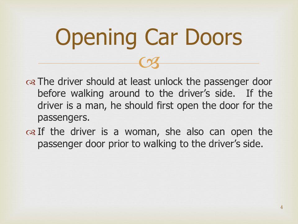 Opening Car Doors