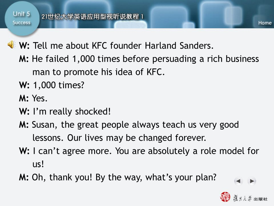 Q9-12 Script2 W: Tell me about KFC founder Harland Sanders.