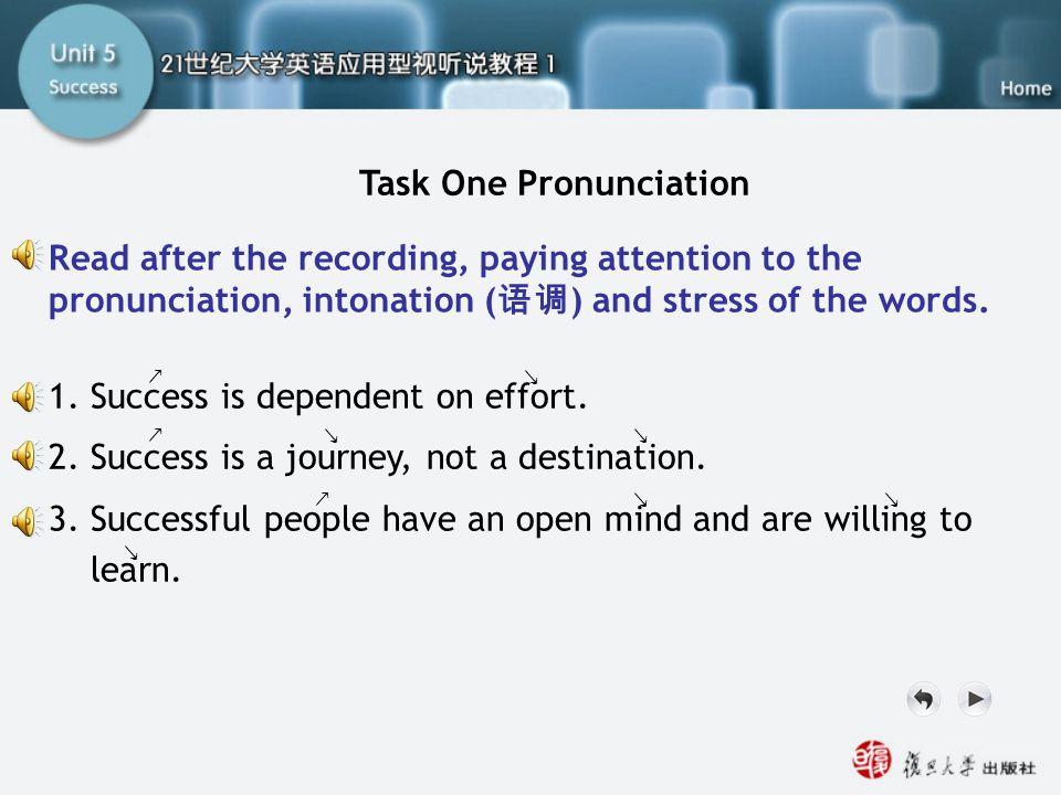 SA-Task One1 Task One Pronunciation