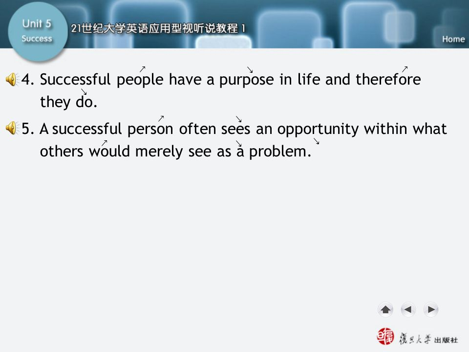 SA-Task One2 4. Successful people have a purpose in life and therefore they do.