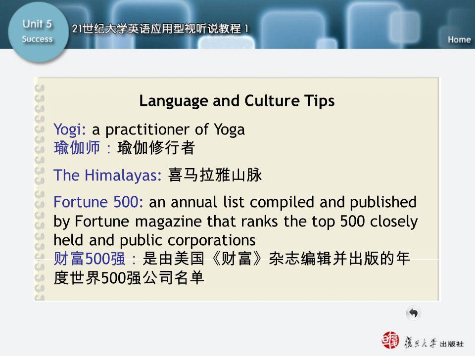 SA Language and Culture Tips
