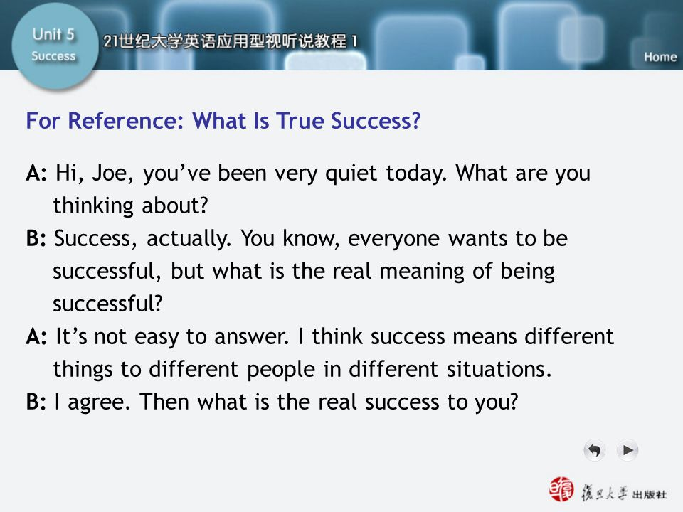 SA For Reference For Reference: What Is True Success