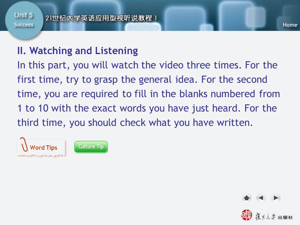 SB II. Watching and Listening1