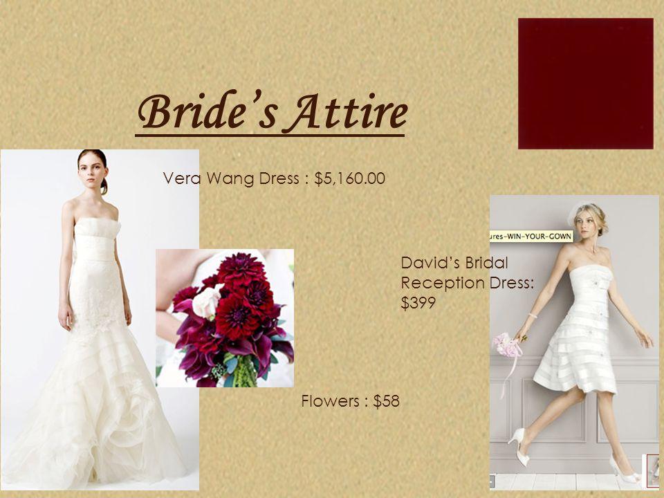 Bride's Attire Vera Wang Dress : $5,160.00