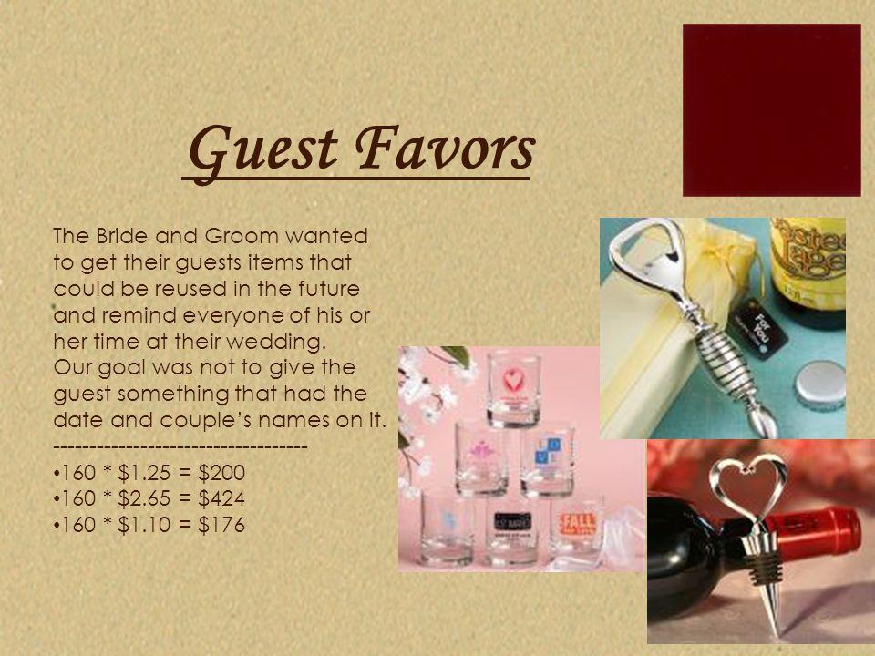 Guest Favors