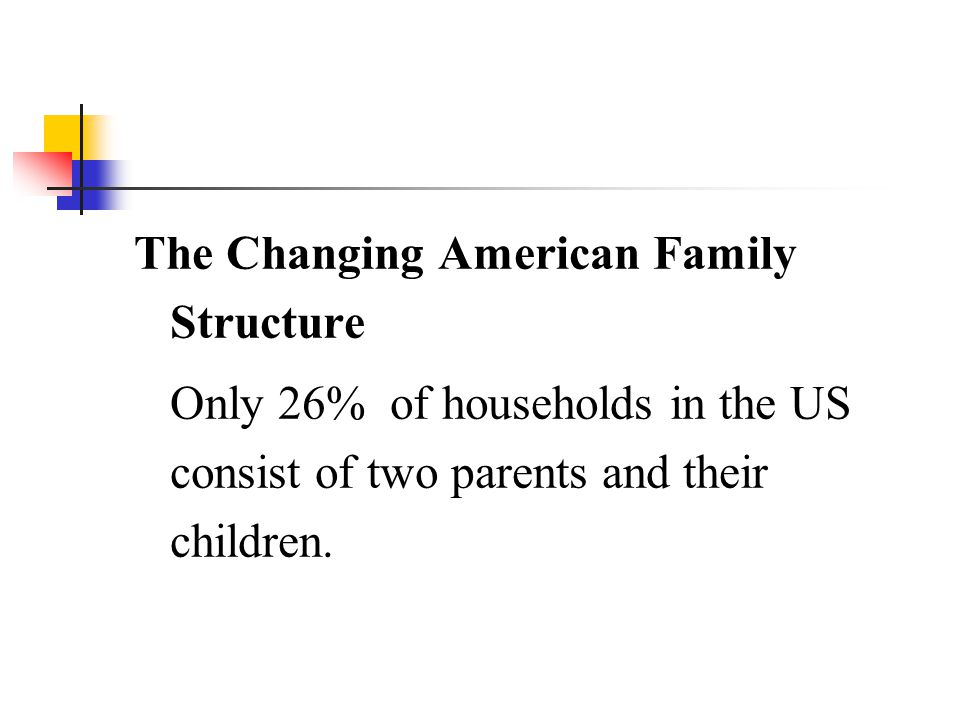 The Changing American Family Structure