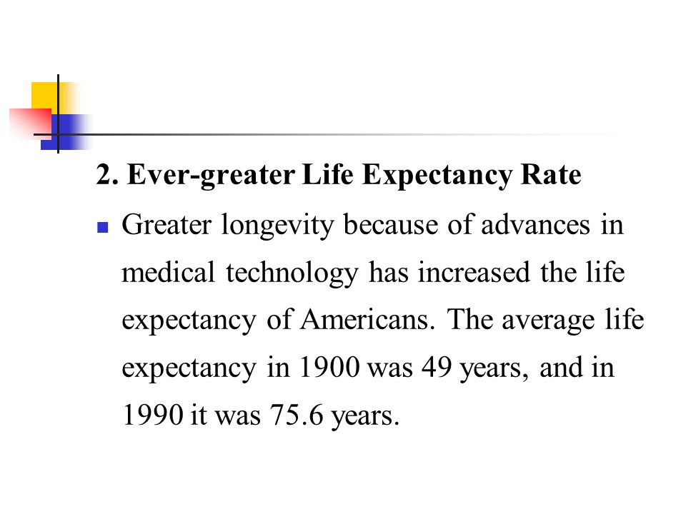 2. Ever-greater Life Expectancy Rate