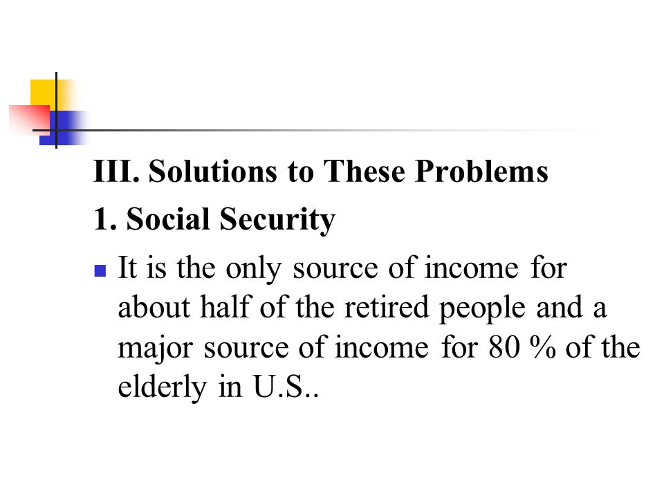 III. Solutions to These Problems