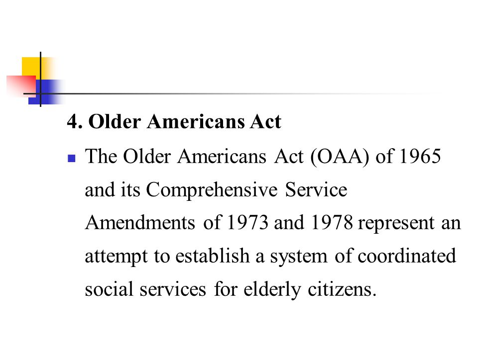4. Older Americans Act