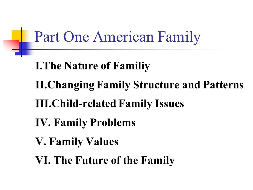 Part One American Family