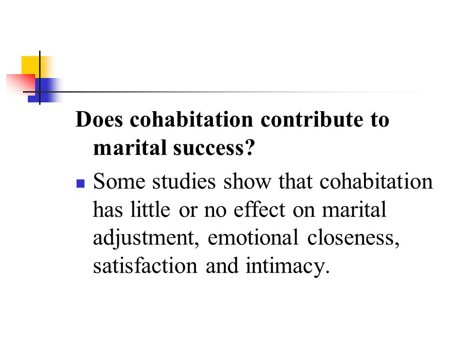 Does cohabitation contribute to marital success