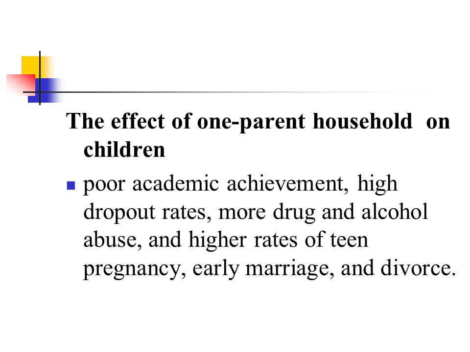 The effect of one-parent household on children