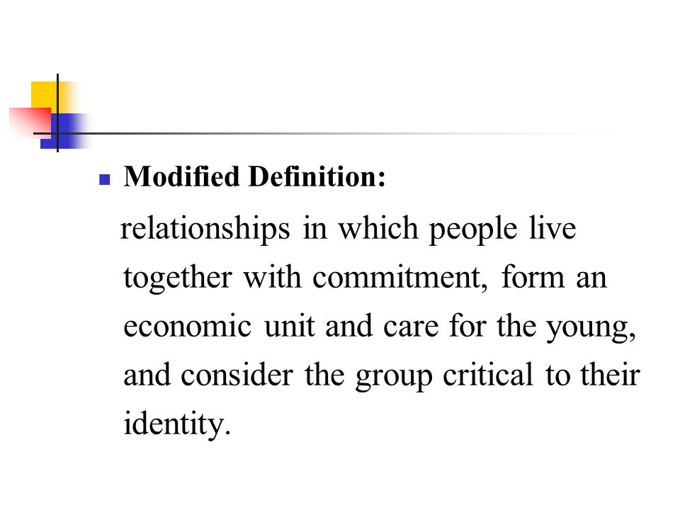 Modified Definition: