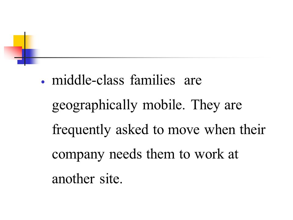 middle-class families are geographically mobile