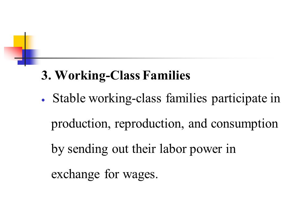 3. Working-Class Families