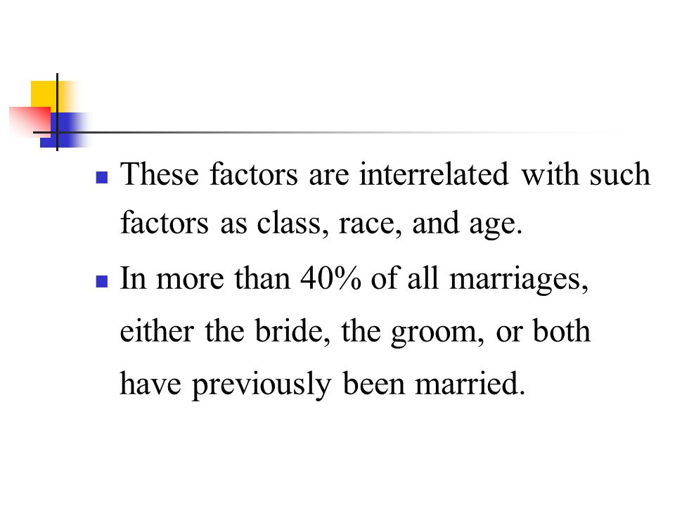 These factors are interrelated with such