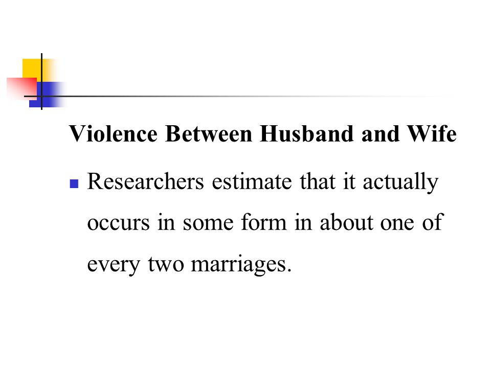 Violence Between Husband and Wife