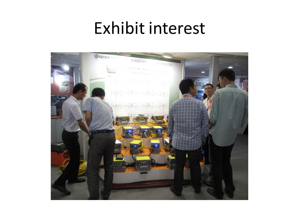 Exhibit interest
