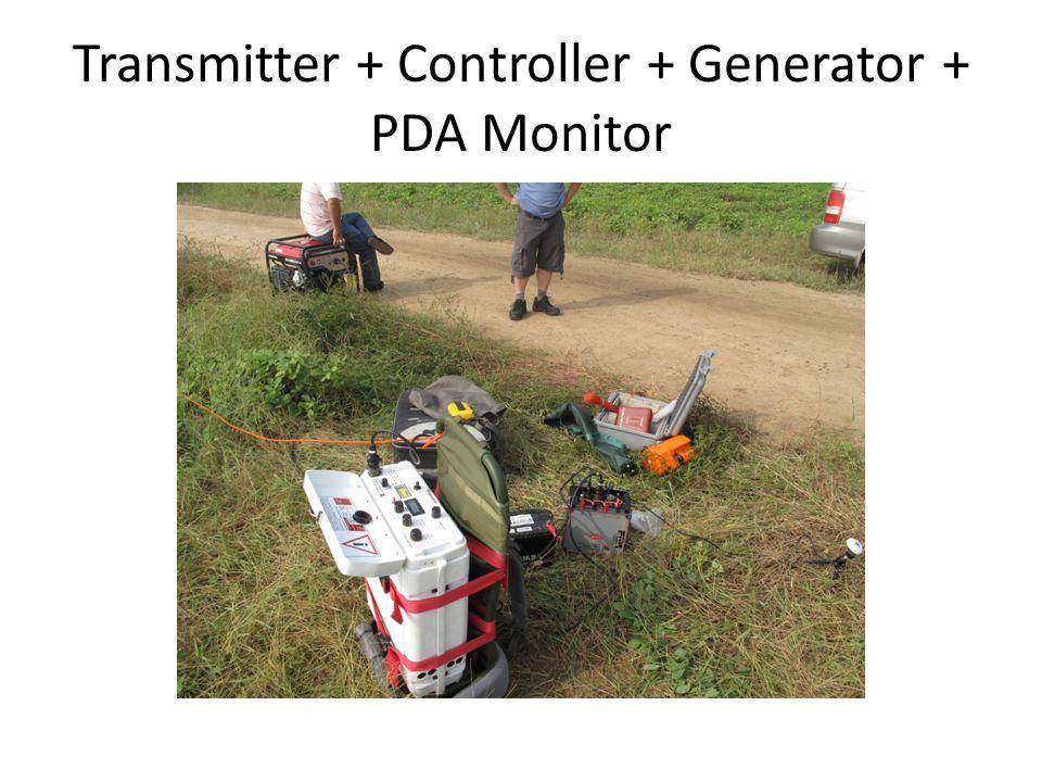 Transmitter + Controller + Generator + PDA Monitor