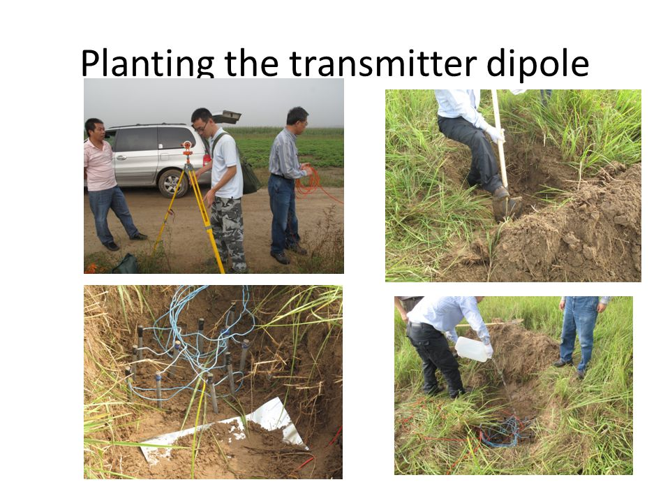 Planting the transmitter dipole