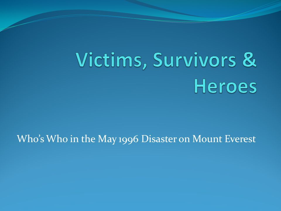 Victims, Survivors & Heroes