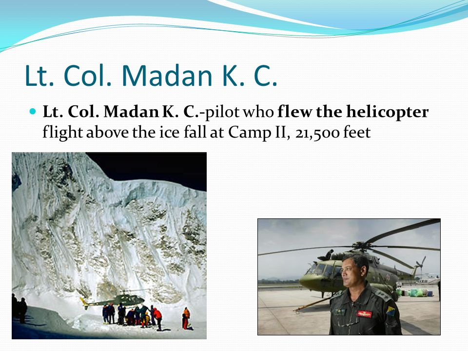 Lt. Col. Madan K. C. Lt. Col. Madan K.