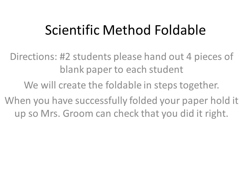 Scientific Method Foldable