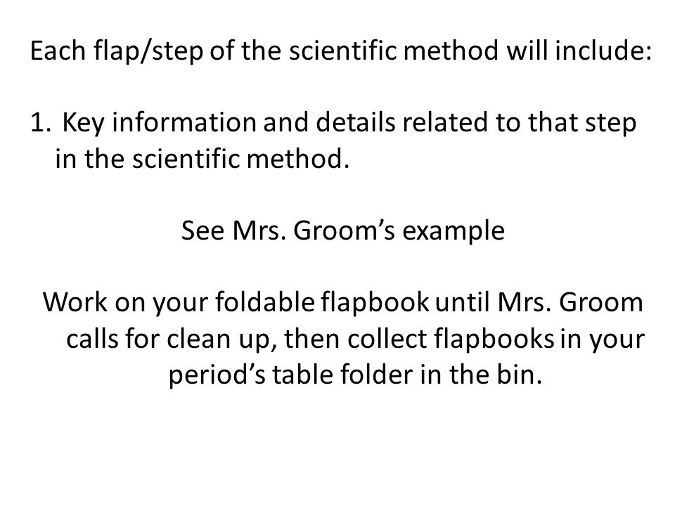 See Mrs. Groom's example