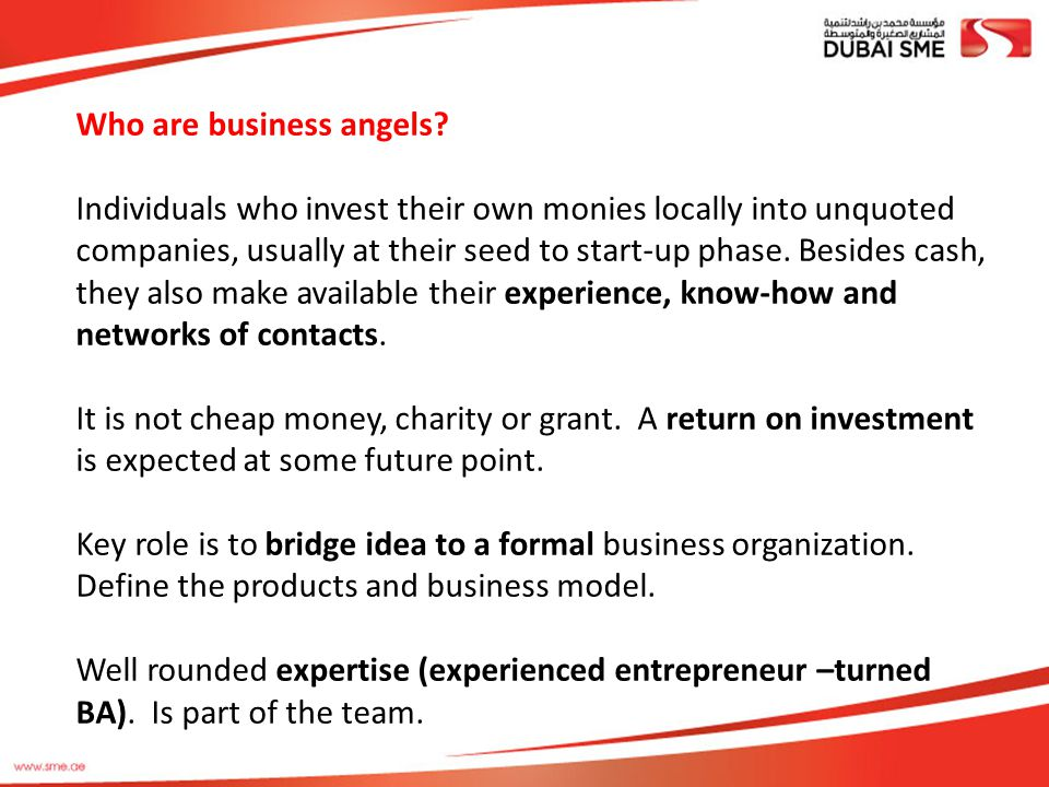 Who are business angels