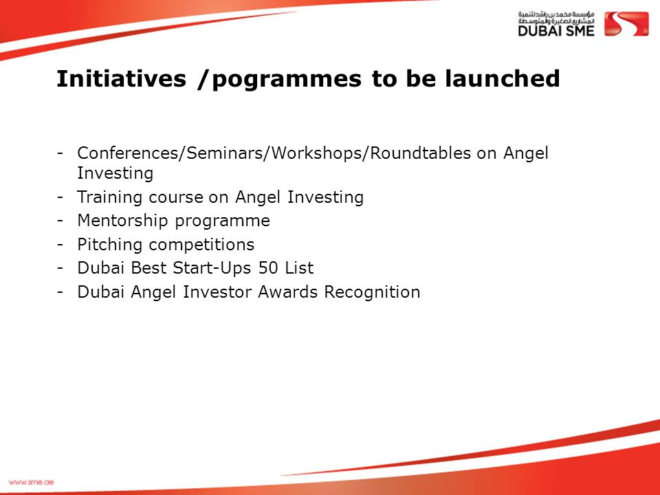 Initiatives /pogrammes to be launched