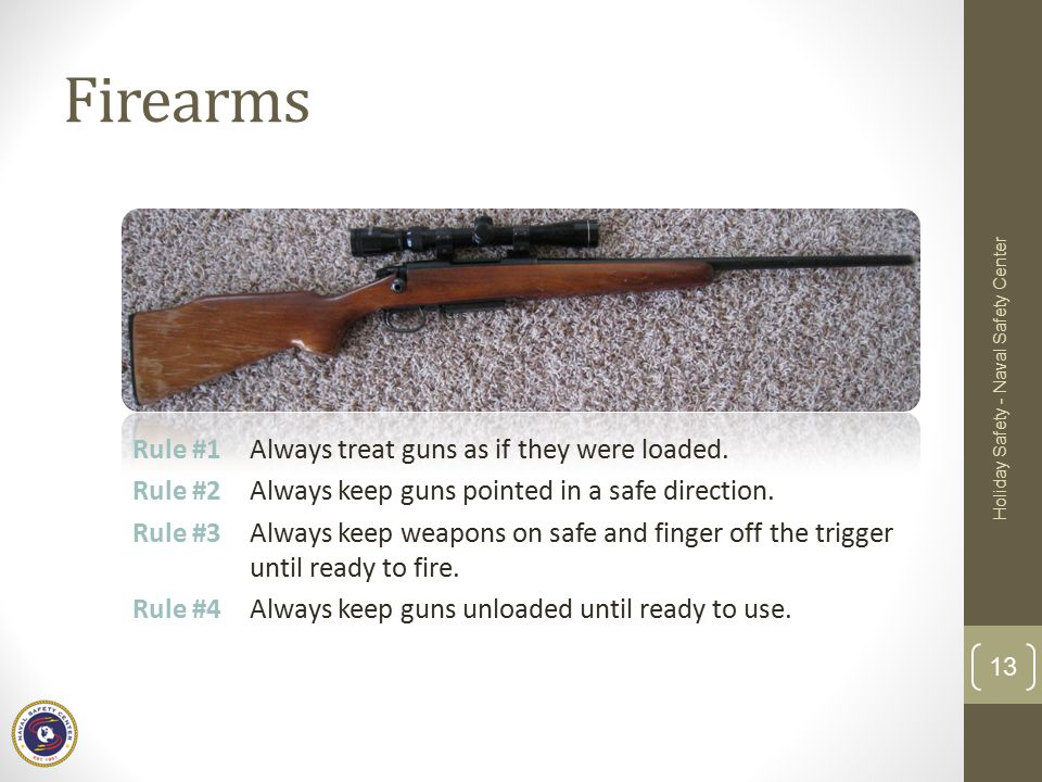 Firearms Holiday Safety - Naval Safety Center.