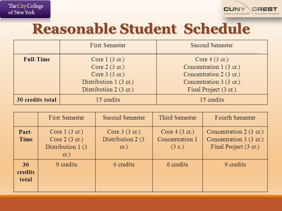 Reasonable Student Schedule