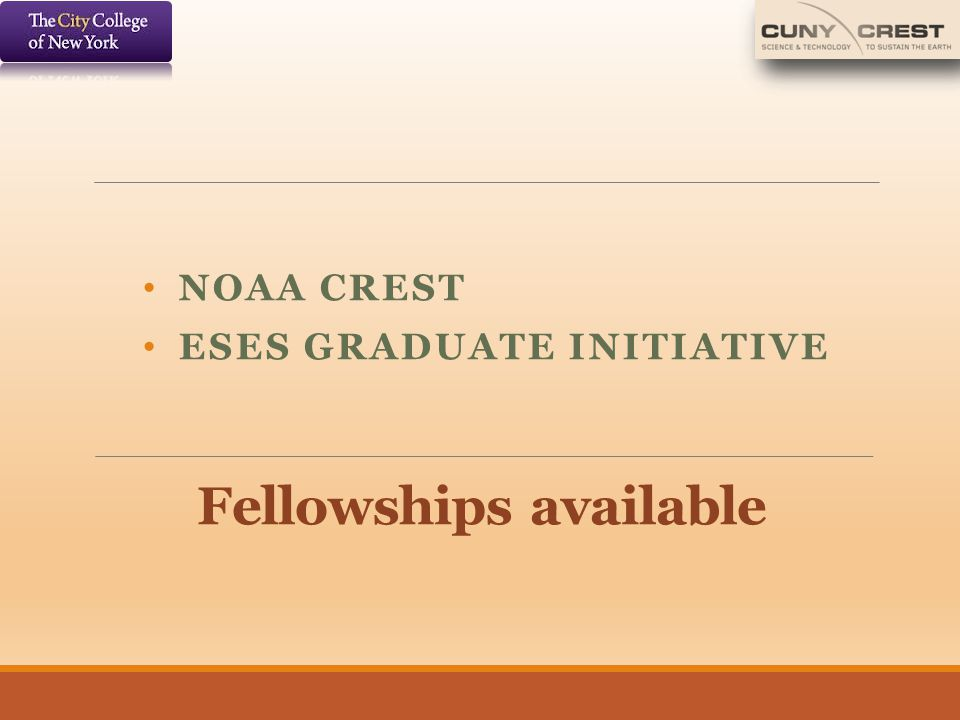Fellowships available