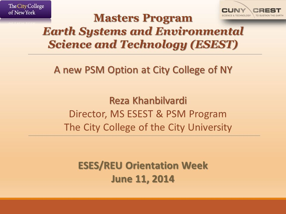 Earth Systems and Environmental Science and Technology (ESEST)