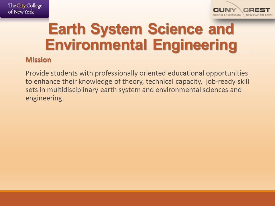 Earth System Science and Environmental Engineering