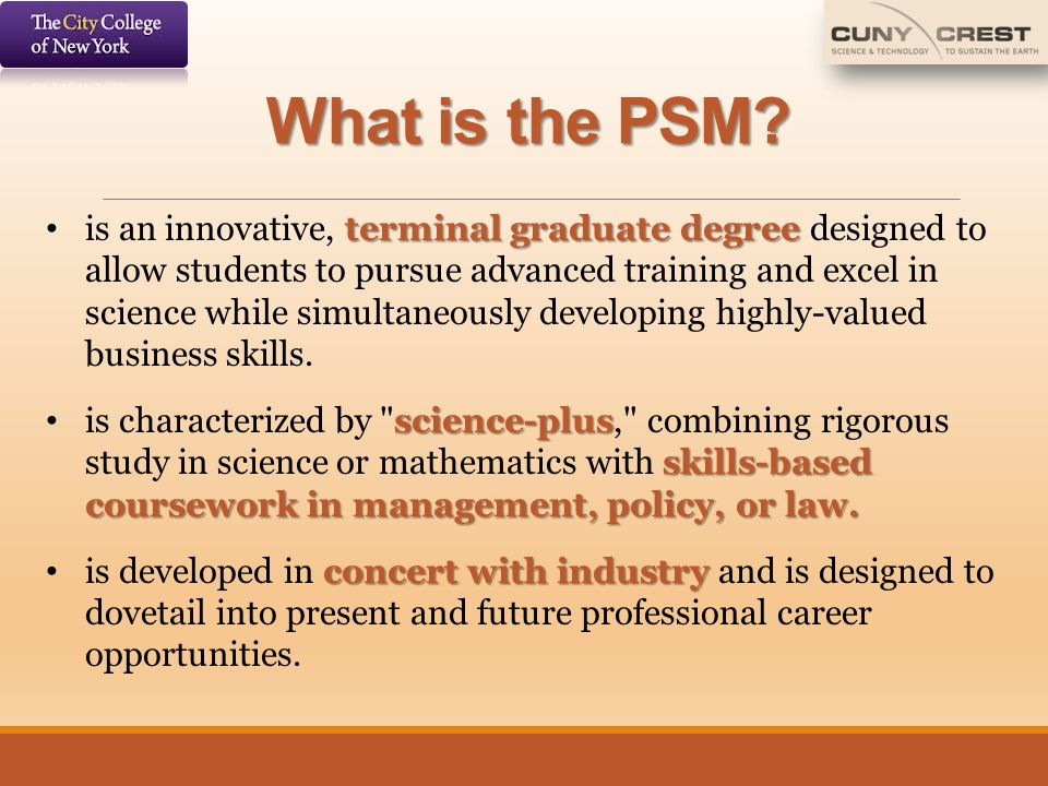 What is the PSM