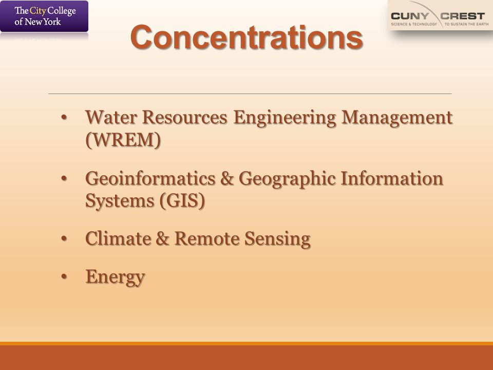 Concentrations Water Resources Engineering Management (WREM)