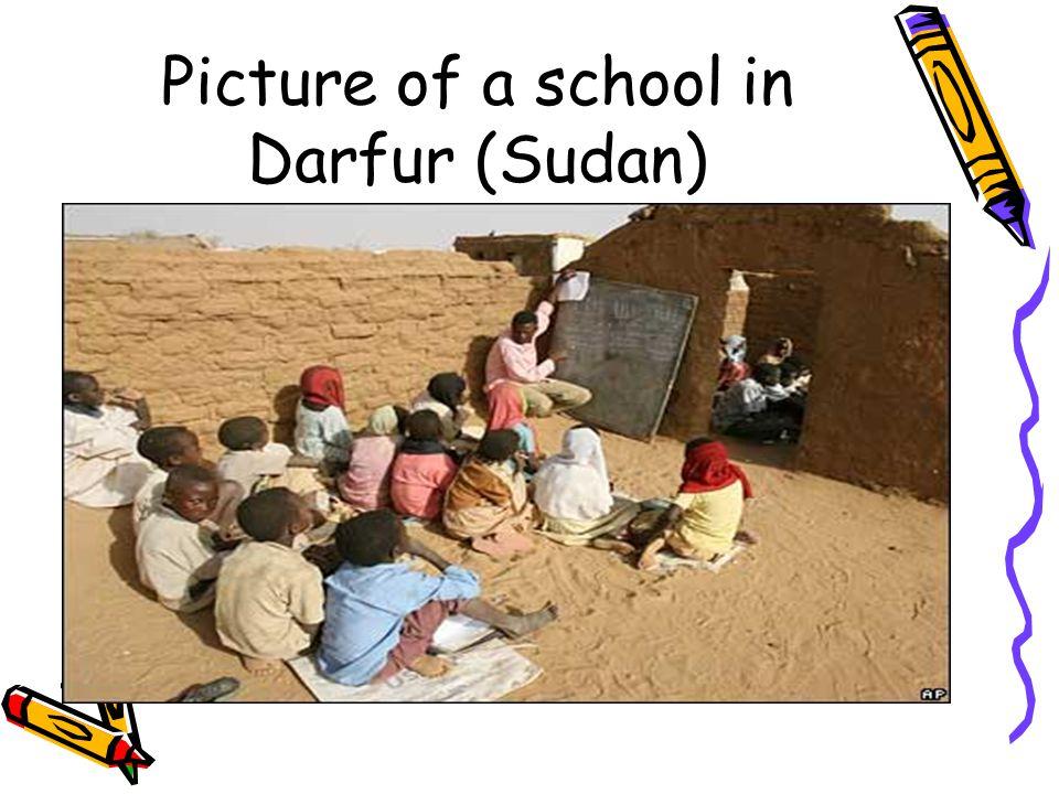 Picture of a school in Darfur (Sudan)