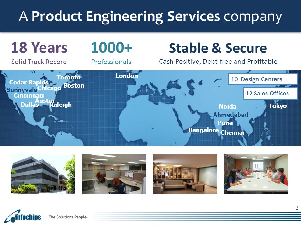 18 Years 1000+ A Product Engineering Services company Stable & Secure