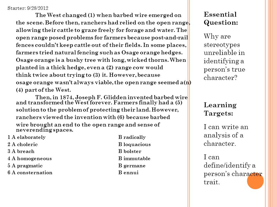 I can write an analysis of a character.